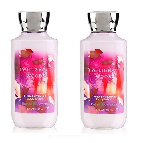 Set of 2  Bath and Body Works Twilight Woods Lotion 8 Ounce Shea and Vitamin E Collection (Bath Body Works Twilight Woods)