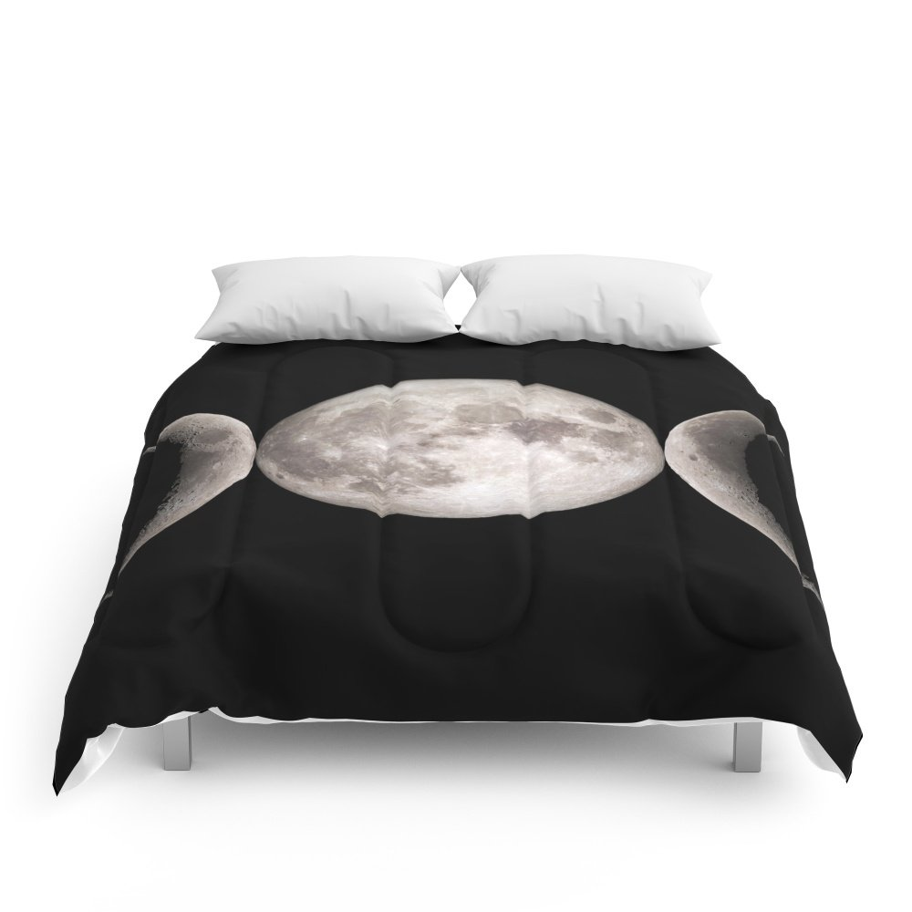 "Society6 Triple Moon Comforters King: 104"" x 88"""