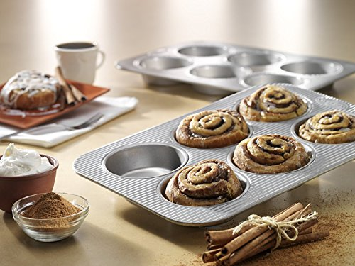 New Mini 6 Cup Non Stick Steel Muffin Baking Cake Pan with Kitchen Tools Combo by FNG Homestead