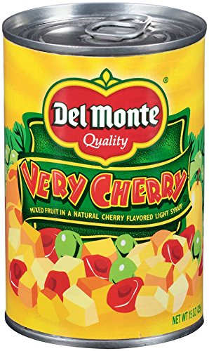 Del Monte Canned Very Cherry Mixed Fruit in Natural Cherry Flavored Light Syrup, 15-Ounce by Del Monte
