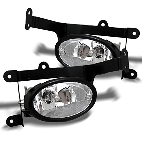 For Honda Civic Coupe Bumper Driving Clear Fog Lights Driver/Passenger Lamps with Switch/Bulbs