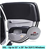 XXL/Car Window Sun Shades for SUVs Windows up to 49 x 27 in. Mesh Shade Socks for Baby. Covers Fully. 2-Pack