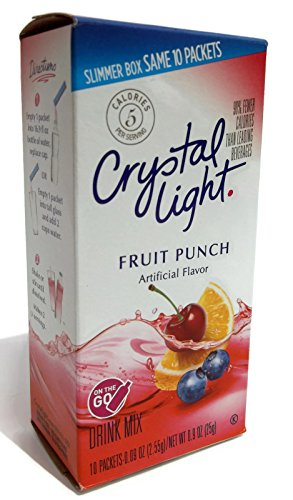 Crystal Light Drink Mix On The Go - 2 Boxes, 10 Sachets Per Box - Add to Glass or Bottle of Water (Fruit Punch) (Fruit Punch Go The On Light Crystal)