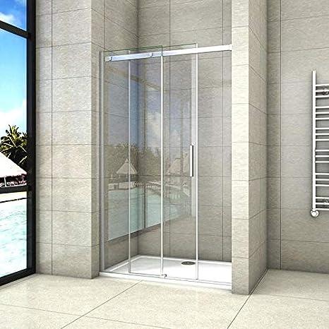 125x195cm Mamparas de ducha puerta de ducha 8mm vidrio templado de Aica: Amazon.es: Bricolaje y herramientas