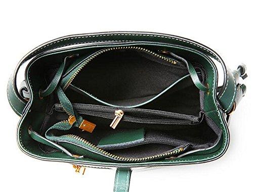 rivetto di Borsa della sacchetto morbida diagonale benna donna da colore pelle puro estate Verde in Il Borsa Wild tracolla d4W5ZqwFd