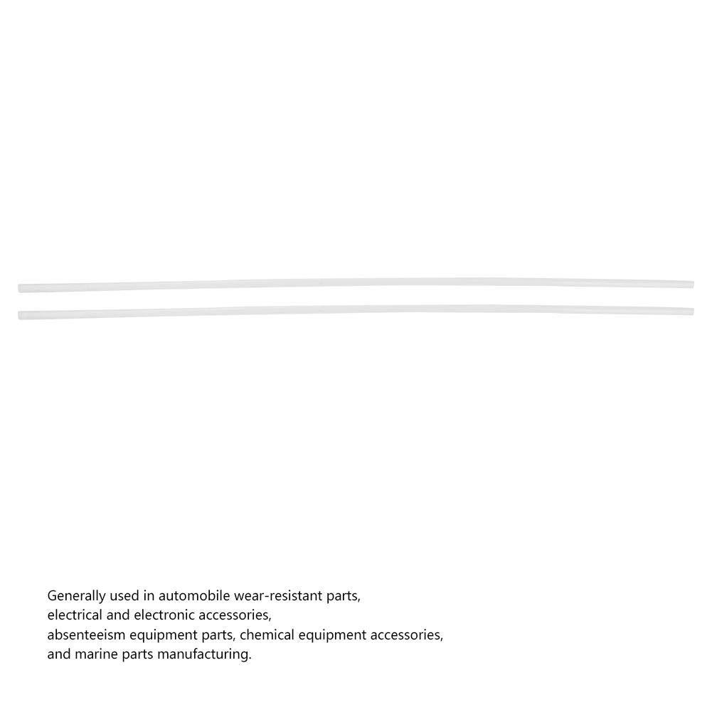 500mm FTVOGUE 2pcs Ing/énierie Plastique et Caoutchouc Tiges Rondes Barre en Nylon R/ésistant /à lusure 6