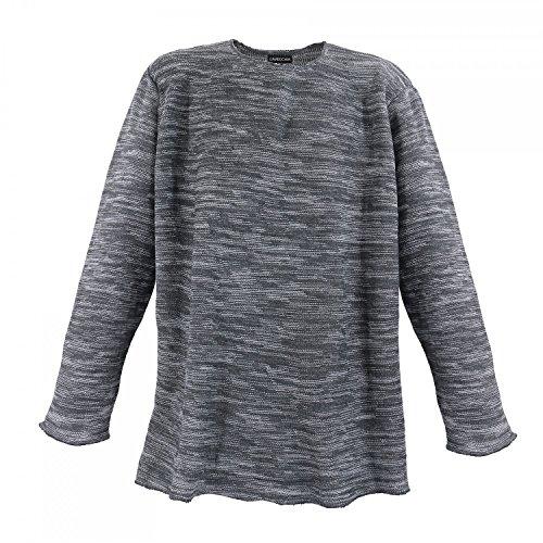 Lavecchia -  Felpa  - Basic - Maniche lunghe  - Uomo grigio XXXL