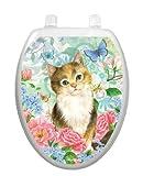 Soft Kitty Toilet Tattoo TT-1092-O Elongated Pet Cat Kitten