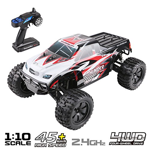 Innovateking RC Car Off-Road 4WD 1:10 Scale High Speed 45km/h Radio Controlled RC Car All Terrain RC Truck 2.4Ghz Brushless Remote Control Monster Truck R/C RTR Buggy Hobby Cross Country Car