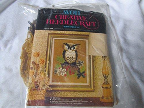Vintage Avon Owl - Owl Needlepoint Kit