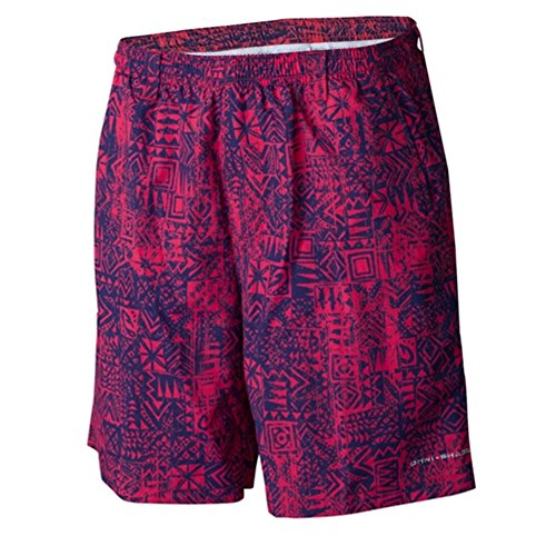 b27b0bdb03 Columbia Men's Backcast II Printed Shorts, Sunset Red Tiki Texture Print,  Large/8 - Buy Online in Oman. | Apparel Products in Oman - See Prices, ...