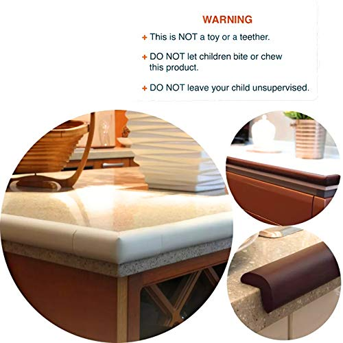 TONY STARK Extra Long Baby Proofing Edge and Corner Guards Extra Long 16.4 ft Edge , 8 Corner Protectors with Tape Child Safety Furniture Cushions Free Child Safety Door Edge Finger Protector Brown