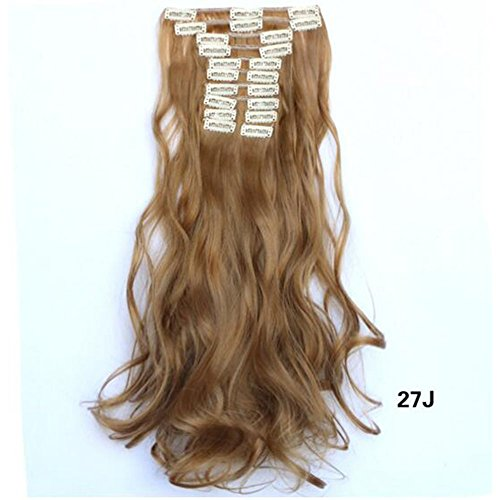[Dongcrystal Long Wavy Curly Hairpiece Full Head 10 Piece 22 Clips in Synthetic Hair Extensions Party Wig for] (Halloween Costume Ideas For Two Teenage Girls)