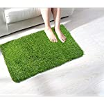 Soulful Creations Solid Modern Door Mat (Green, Cotton, Medium)
