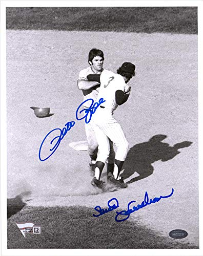 Photo 8x10 Autographed Rose Pete - Pete Rose and Bud Harrelson Autographed 8