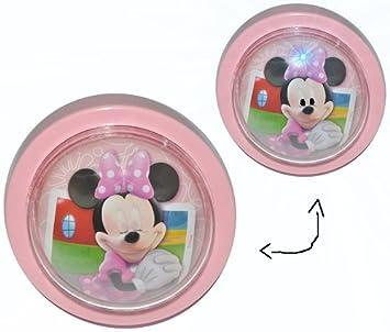 1 Stk. Nachtlicht Disney Minnie Mouse / magisches Licht LED Schlummerlicht  mit Schalter - Nachtlampe Lampe für Kinder mit Batterie Mickey Maus