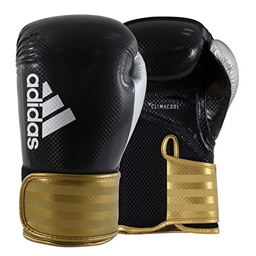 adidas Hybrid 65 Black/Gold/Silver Boxing Gloves - 16oz