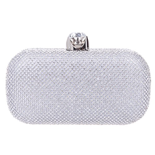 307de9f328b Ainemay Woman Sparking Rhinestone Wedding Party Handbag - Silver delicate
