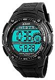 Men's Digital Watch,Sports Multifunction Waterproof Big Dial Wrist Watch Black SK1203A