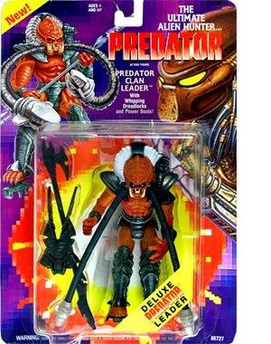 Predator Kenner Vintage 1994 Action Figure Predator Clan Leader with Whipping Dreadlocks Power Boots!