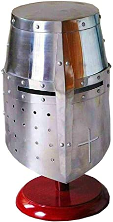 MEDIEVAL KNIGHT CRUSADER ARMOR HELMET RE-ENACTMENT ROLE PLAY FANCY DRESS COSTUME