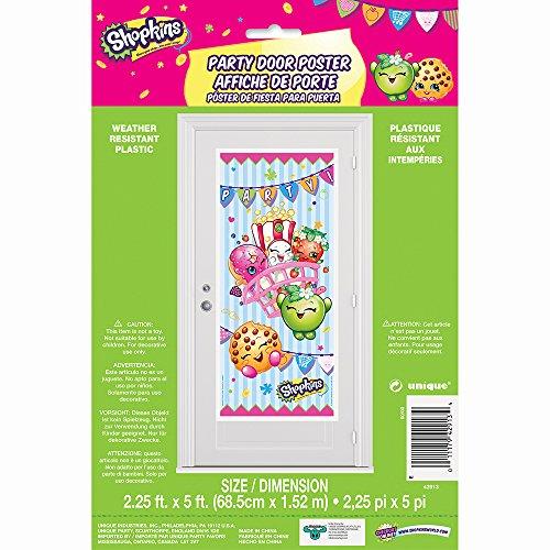 Plastic Shopkins Door Poster, 2.25' x 5'
