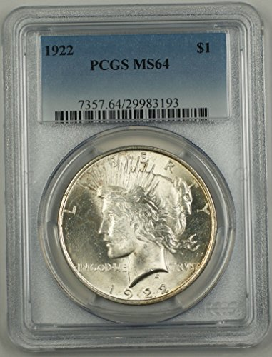 1922 No Mint Mark Peace Dollar PCGS MS-64