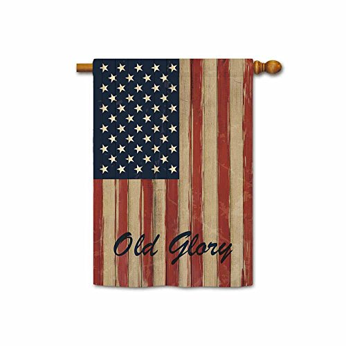 - Kafepross Wooden American Flag House Flag Old Glory Patriotic Banner 28