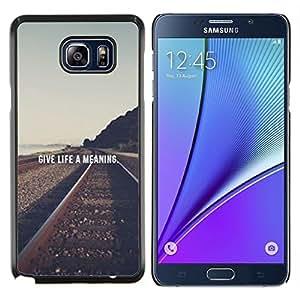 EJOOY---Cubierta de la caja de protección para la piel dura ** Samsung Galaxy Note 5 5th N9200 ** --Ferrocarril Vignette Libertad Significado Texto