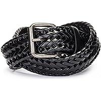 Tanpie Fashion Men's Braided Belt Leather Strap for Jeans