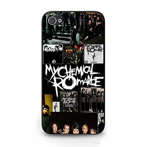 Iphone 4 4s Band MCR Cover Shell Unique Design Alternative/Indie Rock Band My Chemical Romance Phone Case Cover for Iphone 4 4s