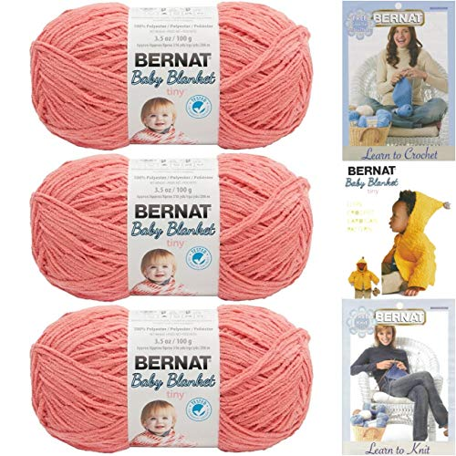 Bernat Baby Blanket Tiny 3 Pack 100 Percent Polyester Gauge