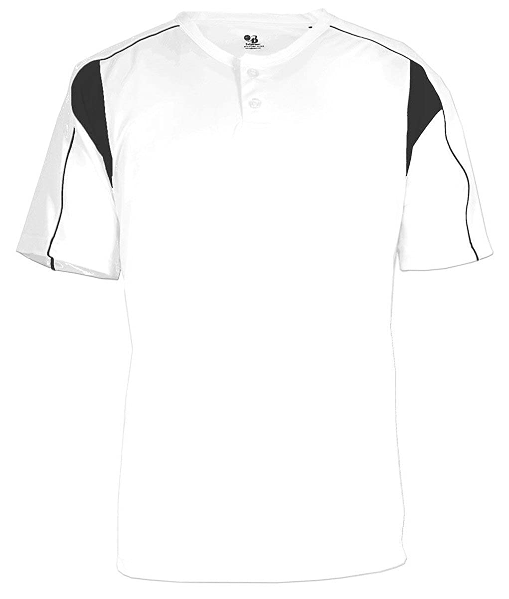 Badger Pro Placket Performance Contrast Henley T-Shirt