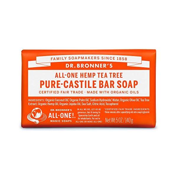 Dr. Bronner's Organic Tea Tree Pure-Castile Soap Bar