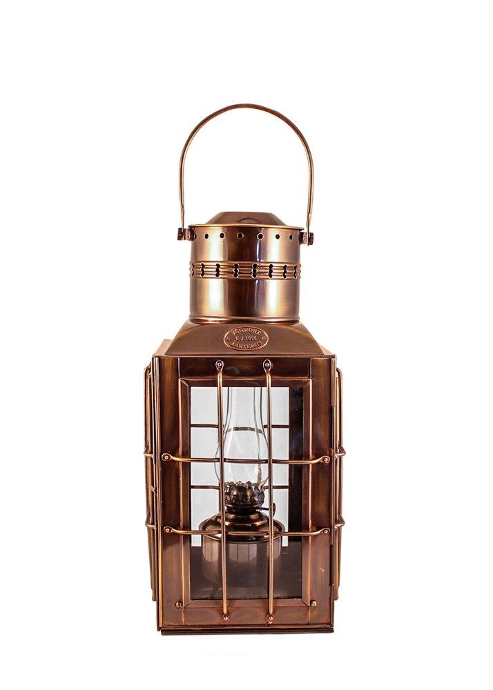 Vermont Lanterns Brass Chiefs Oil Lamp - Nautical Lantern (15'', Antique Brass)