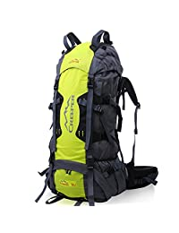 Mountaintop 70L inner racks backpacking camping travel shoulders tactical backpack to send rain cover