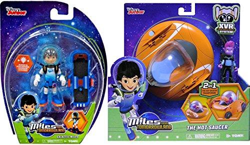 Miles From Tomorrowland Hot Space Rocket Saucer + Pipp Figure & Galactic Miles Disney Figure & Blast Board