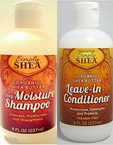 Shea Solutions Organic Shea Butter Deep Moisture Shampoo And
