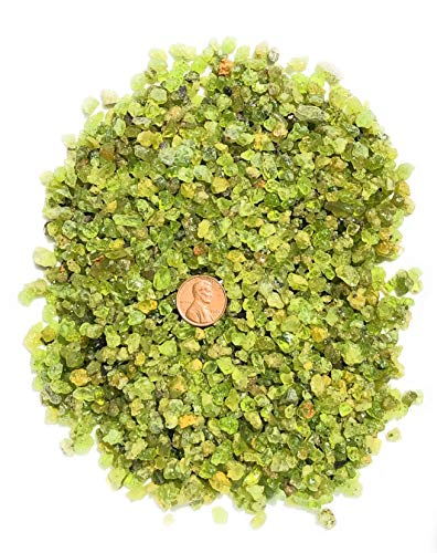 Peridot from Arizona - 1/2 Pound - Natural Untreated Rough Stone - Gathered by Hand On The San Carlos Apache Reservation - Genuine Stones for Healing, Reiki, Crystal Jewelry, Making Craft Projects