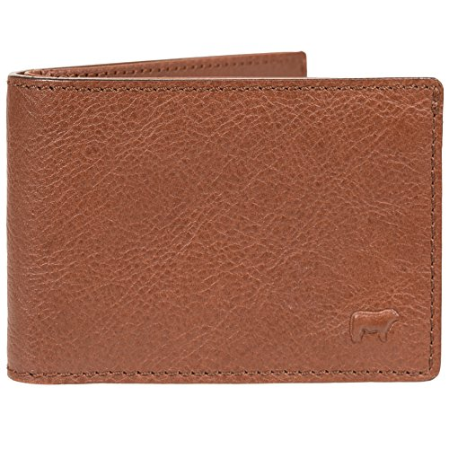 Will Leather Goods Slim Vegetable Tanned , Top Grain Leather Billfold, 4.25