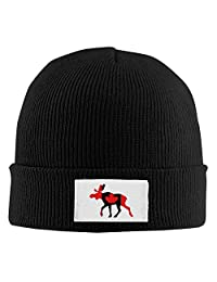 Adult Fashion Canadian Moose Rib Knit Caps Skull Cap Winter Hat