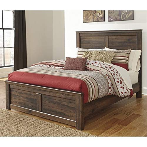 Amazon Com Ashley Furniture Quinden Wood King Panel Bed