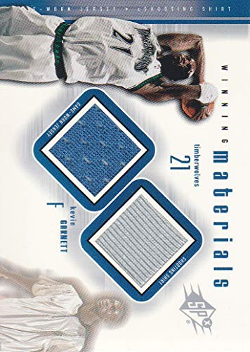 2000-01 SPx Winning Materials #KG2 Kevin Garnett JERSEY-SHOOTING SHIRT Wolves