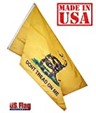 "US Flag Factory 4'x6′ Gadsden ""DON'T TREAD ON ME"" Outdoor SolarMax Nylon Flag – Made in America For Sale"