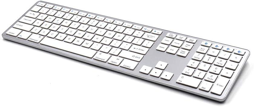 FWec Teclado y ratón Bluetooth, Teclado Bluetooth para iMac ...