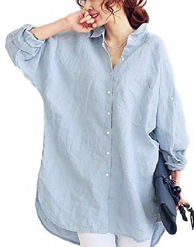 見落とすつかまえる本会議[プチドフランセ ] ロング シャツ チュニック リネン ブラウス ドルマン 長袖 無地 ゆったり 大きいサイズ シンプル レディース