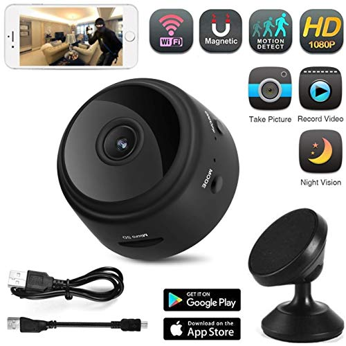Mini WiFi Spy Camera -Wireless Hidden Camera Security-Portable Small Video Camcorder-Nanny/Pet Cam-Motion Detection-Night Vision-App for iPhone/Android/iOS/PC by LP