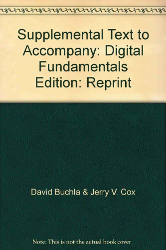 Supplemental Text to Accompany Digital Fundamentals - Stated on first page: