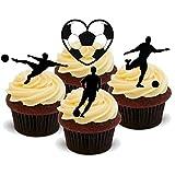Ballon en forme de fleurs Idéal pour fête d'anniversaire Motif cupcakes comestibles en support de 12 décorations de gâteaux en Papier de riz comestible pour gâteaux - 2 x 12 images A5