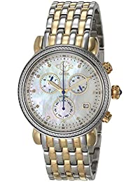 by Gevril Women's Marsala Chrono Swiss Quartz Watch with Stainless Steel Strap, Gold, 18 (Model: 9847)